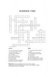 Summer Crossword Puzzles On Time Puzzle The Uses Terms