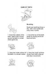 English Worksheets: dental care
