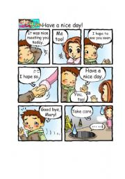 English Worksheets: Cartoon English(3pages)
