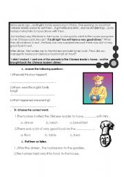 English Worksheets: the chinese leader