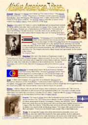 English Worksheets: Native American Tribes
