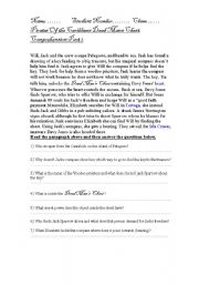 English Worksheet: Pirates of the Caribbean Comprehension part 2