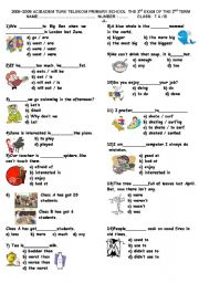 English Worksheet: Exam Paper For 7th Grade Students