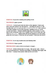 English Worksheets: In-class activities