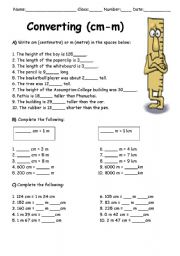 English teaching worksheets: Measurement