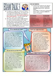 English Worksheet: Speaking Preparation 3 Home + Neighbourhood