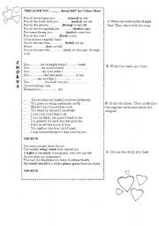 English Worksheets: Because you loved me by Celine Dion- song