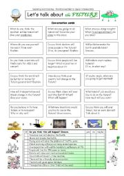 English Worksheet: Let´s talk about the FUTURE