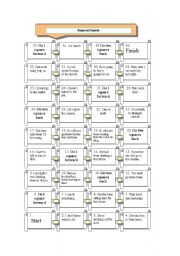 English Worksheet: Board game