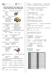 English Worksheet: 8th grade exam