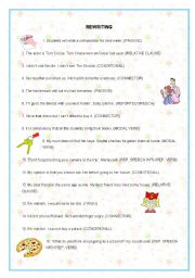 English Worksheets: REWRITING UPPER INTERMEDIATE (3rd part)