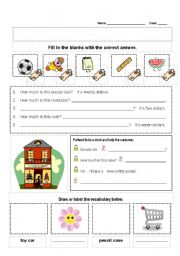 English Worksheet: How much is this?