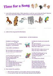 English Worksheets: Animal Instinct