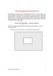 English Worksheets: Mind Mapping