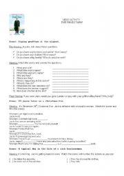 English Worksheets: Movie activity - The family man