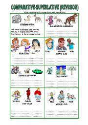 Comparative-Superlative /2 pages/