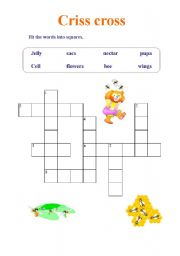 English Worksheets: Criss cross