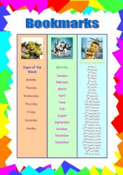 Cute Bookmarks for elementary students