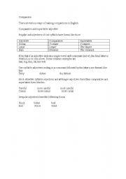 English Worksheets: Comparison