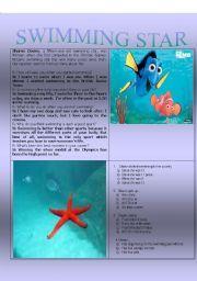 English Worksheet: Swimming Star