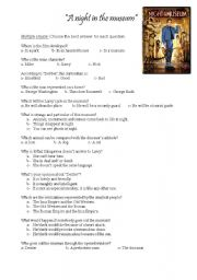 A night at the museum - ESL worksheet by sheilacoli