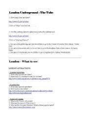 London Webquest