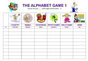 The alphabet game 1