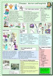 English Worksheets: Illnesses
