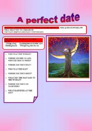 English Worksheets: A PERFECT DATE
