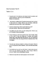 English Worksheets: Daily Expressions