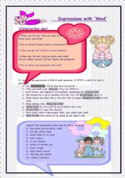 English Worksheets: Expressions with
