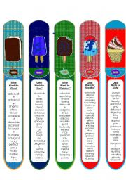 English Worksheet: Synonym Bookmarks 3 - Good, Bad, Beautiful, Ugly, Delicious