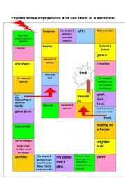 English worksheet: Genius in France game