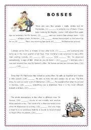 English Worksheets: Use of English - Gap filling with sentences