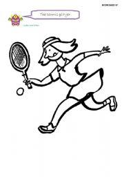 English Worksheet: the tennis player