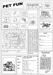 English Worksheet: Pet Fun