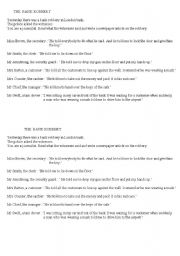 English Worksheet: Bank robbery Reported Speech role play