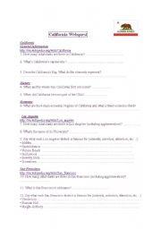 English teaching worksheets: Webquests