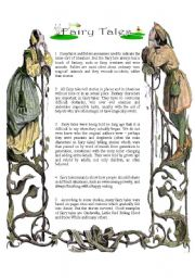 English Worksheet: Reading : Fairy Tales