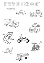 english teaching worksheets means of transport. Black Bedroom Furniture Sets. Home Design Ideas