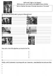 English Worksheet: A Night at the Museum 1