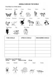 english worksheets animals around the world. Black Bedroom Furniture Sets. Home Design Ideas