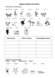 English Worksheets: Animals Around The World