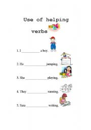 English teaching worksheets: Am/is/are