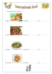English worksheets: Where does this food come from?