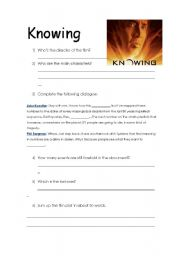 English Worksheets: Knowing - Film