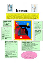 English Worksheet: Telephone language