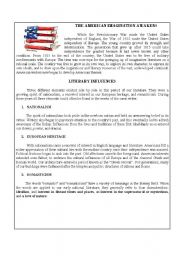 English Worksheets: North American Literature handout