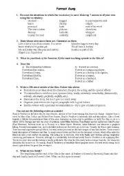 English Worksheet: Forrest Gump - Movie -Tasks