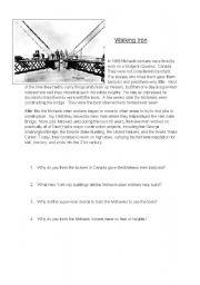 English Worksheet:  Mohawks,  American Indians